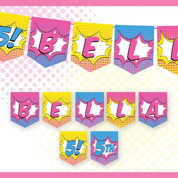 13 best Superhero Girl Party Collection Printable Party images