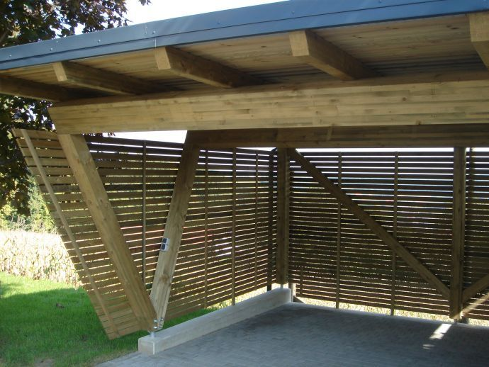 11 best carport holz images on pinterest wood gable roof and modern carport. Black Bedroom Furniture Sets. Home Design Ideas
