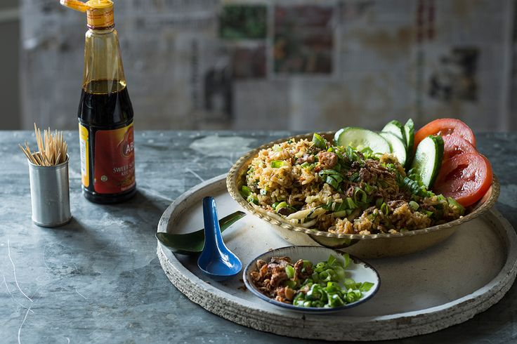 In your wok get this mutton fried rice that incorporates lovely spices and heaps of sticky sweet kecap manis.