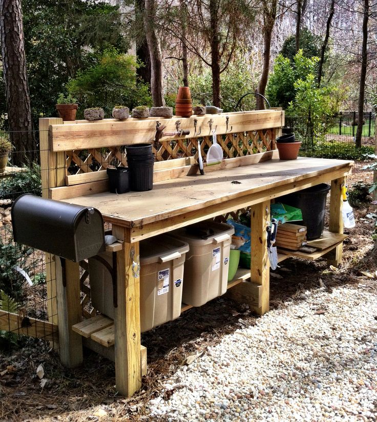 on pinterest gardens recycled materials and potting bench plans