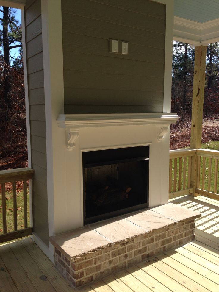 Back porch with fireplace new home ideas pinterest for Country porch coupon code