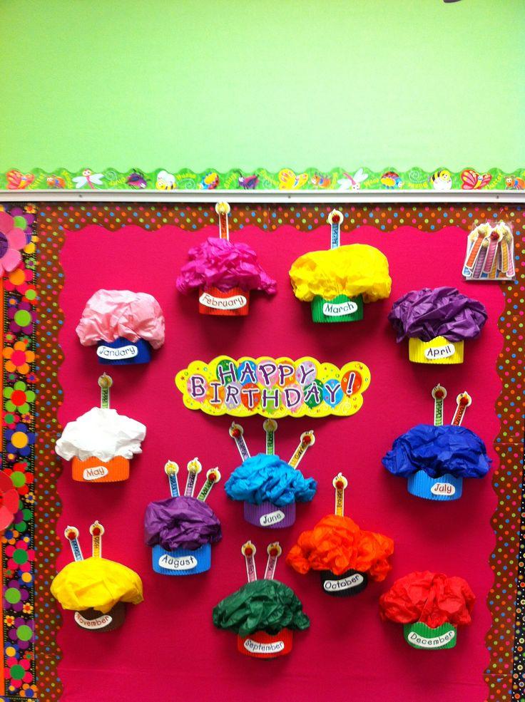 Cupcake Birthday Wall Preschool Amp Kindergarten Bulletin T