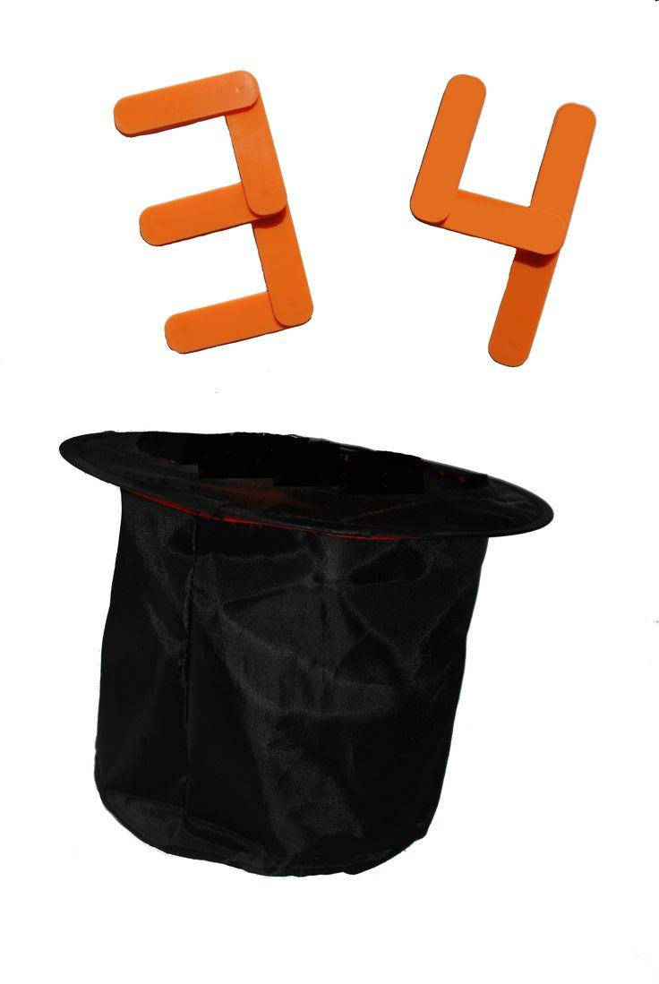 Kun jij het geheime getal in de hoge hoed raden? Stukje voor stukje wordt het zichtbaar. Wie ziet het als eerste?