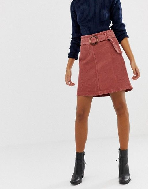 32fce1eb67 New Look skirt with buckles in cord in 2019 | Skirts | New look ...