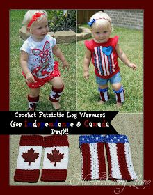 Huckleberry Love: Crochet Canada  Independence Day 'Baby Legs'