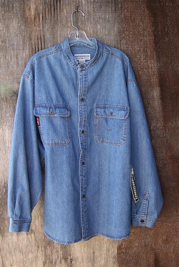 New Old Stock 1980 S Union Bay Blue Denim Shirt Long