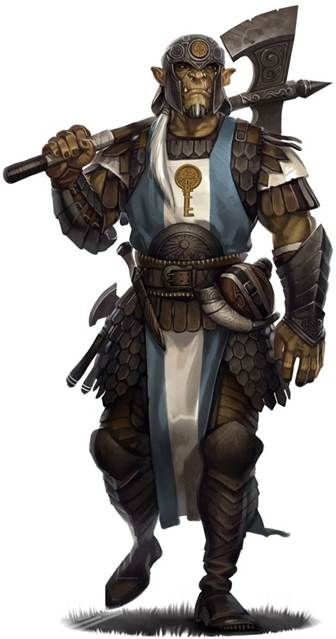 Image result for d&D half orc captain