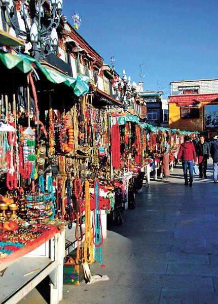 Barkhor Market Lhasa Tibet
