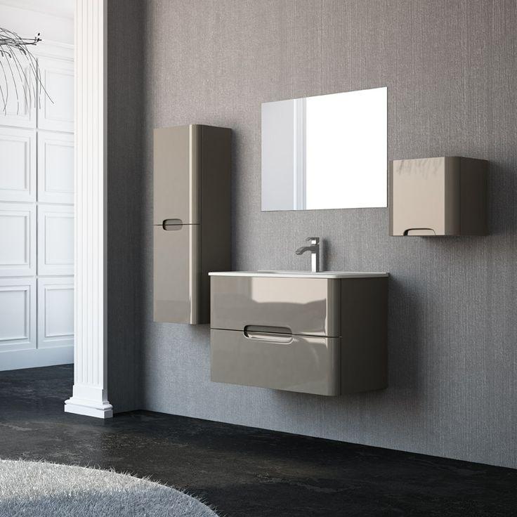 Muebles De Baño Wave:Precioso mueble de baño Osaka, suspendido, líneas sencillas