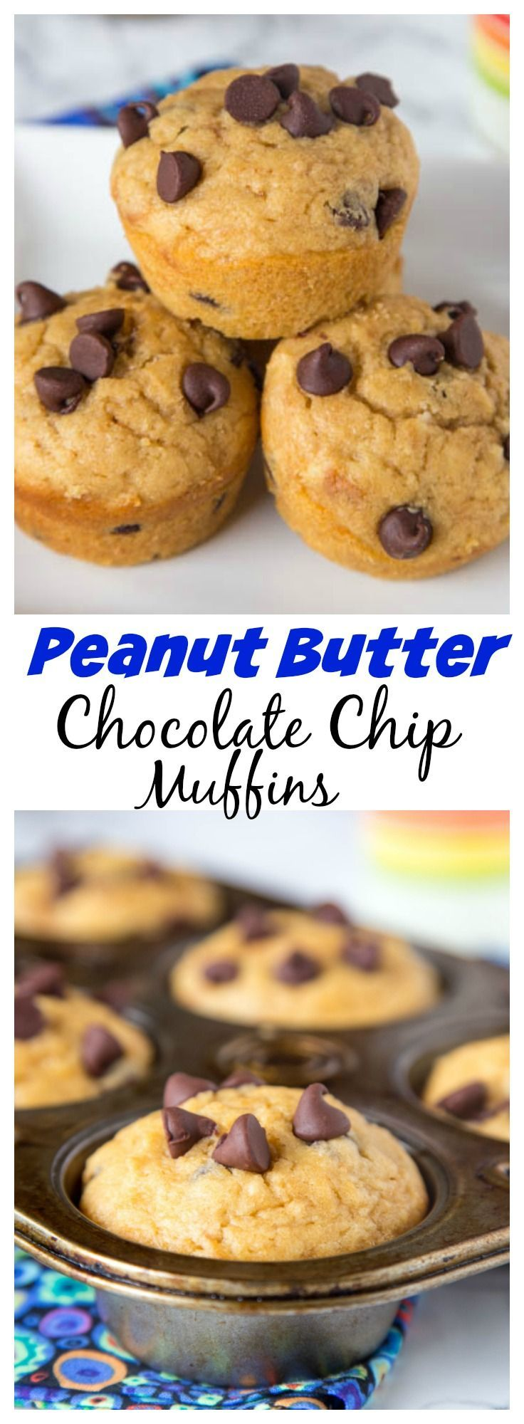 Peanut Butter Chocolate Chip Muffins – light and fluffy peanut butter muffins…
