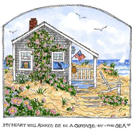 sue wallace barnes | cottage by the sea, Susan Wallace Barnes | Charming Fairytale Cottage ...