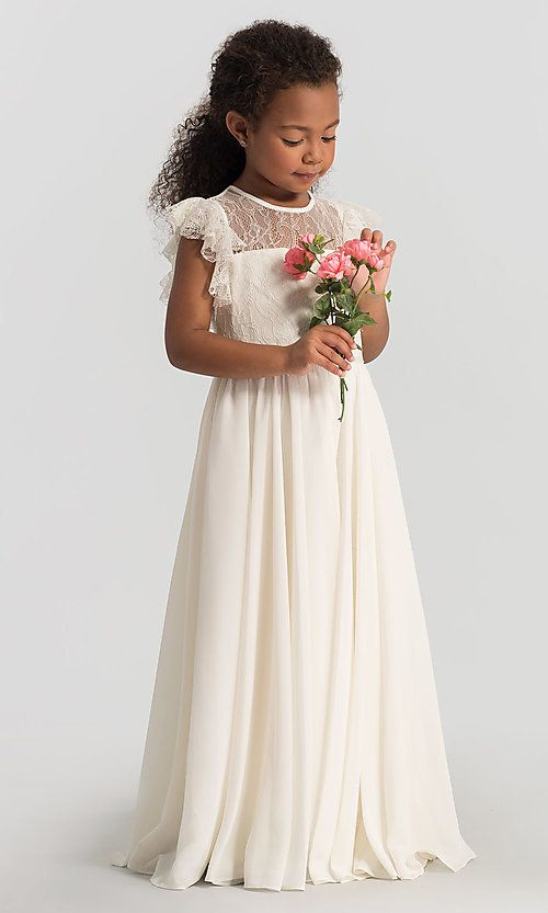 5fd602aaa0 Flutter-Sleeve Dessy Girl Flower Girl Dress FL4046