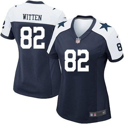Jason Witten Women's Jersey #82 Elite Navy Blue Throwback Alternate Nike NFL Dallas Cowboys Jersey online sale