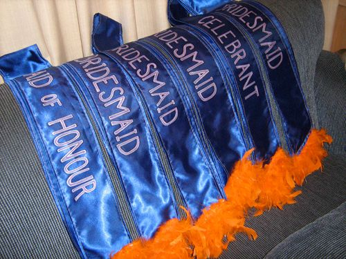 Bachelorette Party Sashes, especially cool if we design them and personalize them ourselves