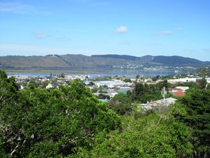 View of the Knysna lagoon from our volunteer house