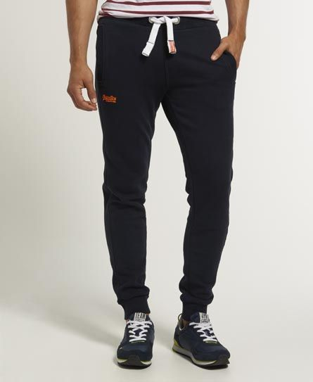 Shop Superdry Mens Orange Label Joggers in Eclipse Navy. Buy now with free  delivery from the Official Superdry Store.