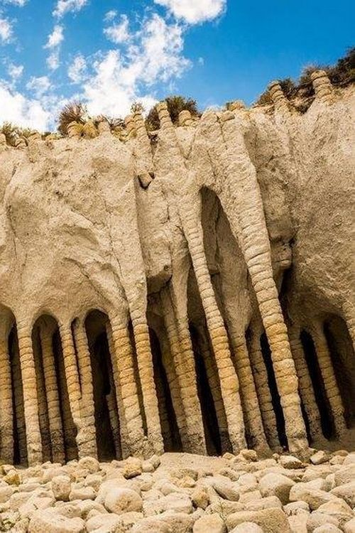 Stone Columns, Crowley Lake, California, USA | Travel pictures, Places to  go, Natural cave