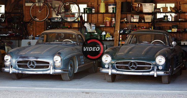 It Doesn't Get More Authentic Than These Original Unrestored Mercedes 300 SLs #Auction #Classics