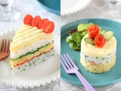 Sushi Cake: 簡単!デコ寿司ケーキ