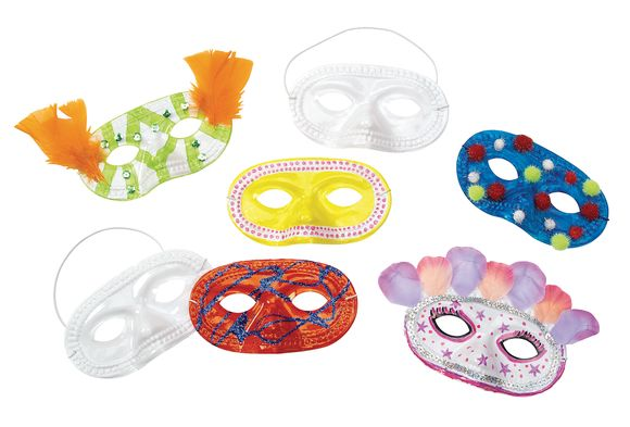 You-Decorate-Them Masks - Set of 24