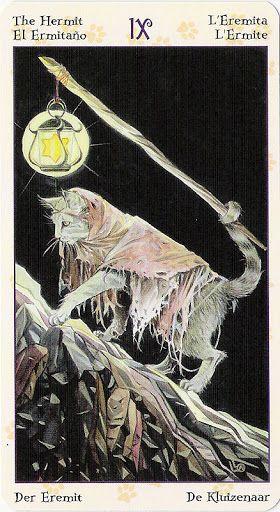 The Hermit: Tarot of Pagan Cats
