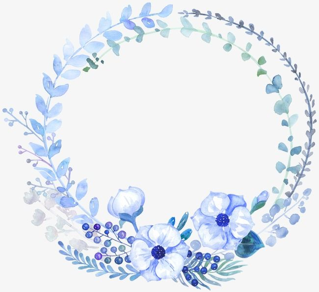 Watercolor Blue Flowers Watercolor Clipart Blue Drawing Plant