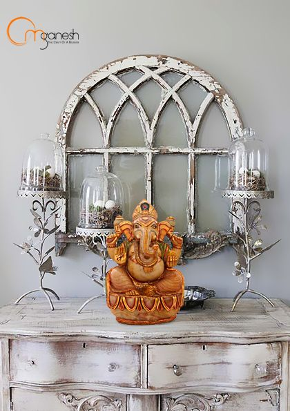 For deluxe spaces, pick a Ganesha idol in pure gold strokes and enhance your room's elegance.  #Ganesha #Deluxe #Spaces #Idol #Strokes #Enhance #Room #Elegance