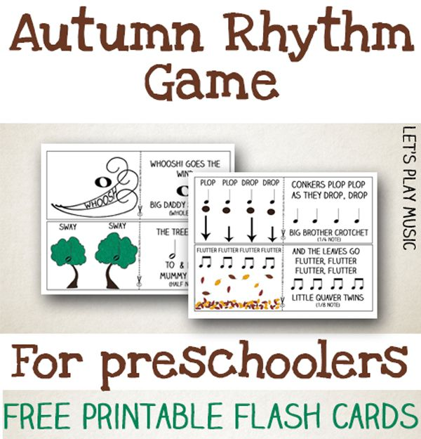 Autumn Rhythm Game For Preschoolers Music Class For Toddlers