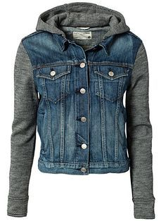 denim jackets with hoods - Google Search