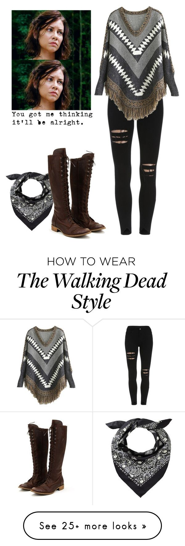 """Maggie Greene - twd / the walking dead"" by shadyannon on Polyvore featuring Charles David"