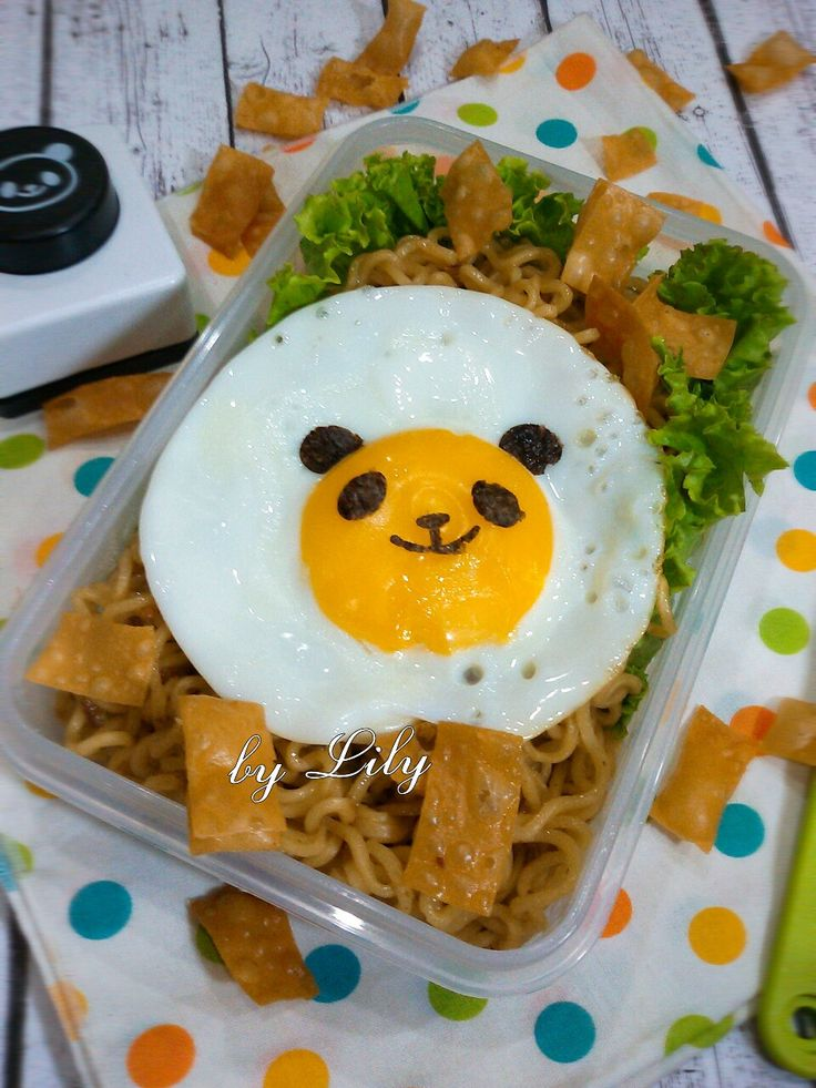 Panda sunny egg bento...cute egg
