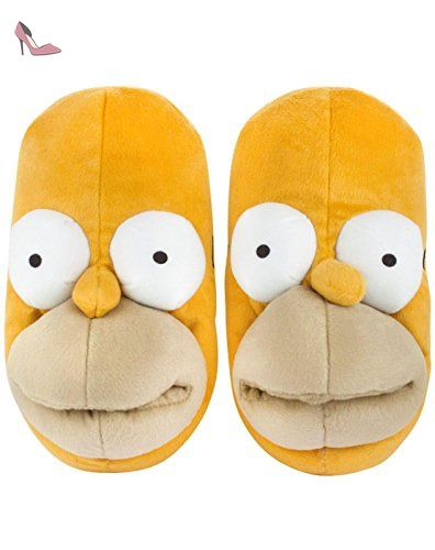 The Simpsons Homer Face Men's 3D Slippers (S) Chaussures