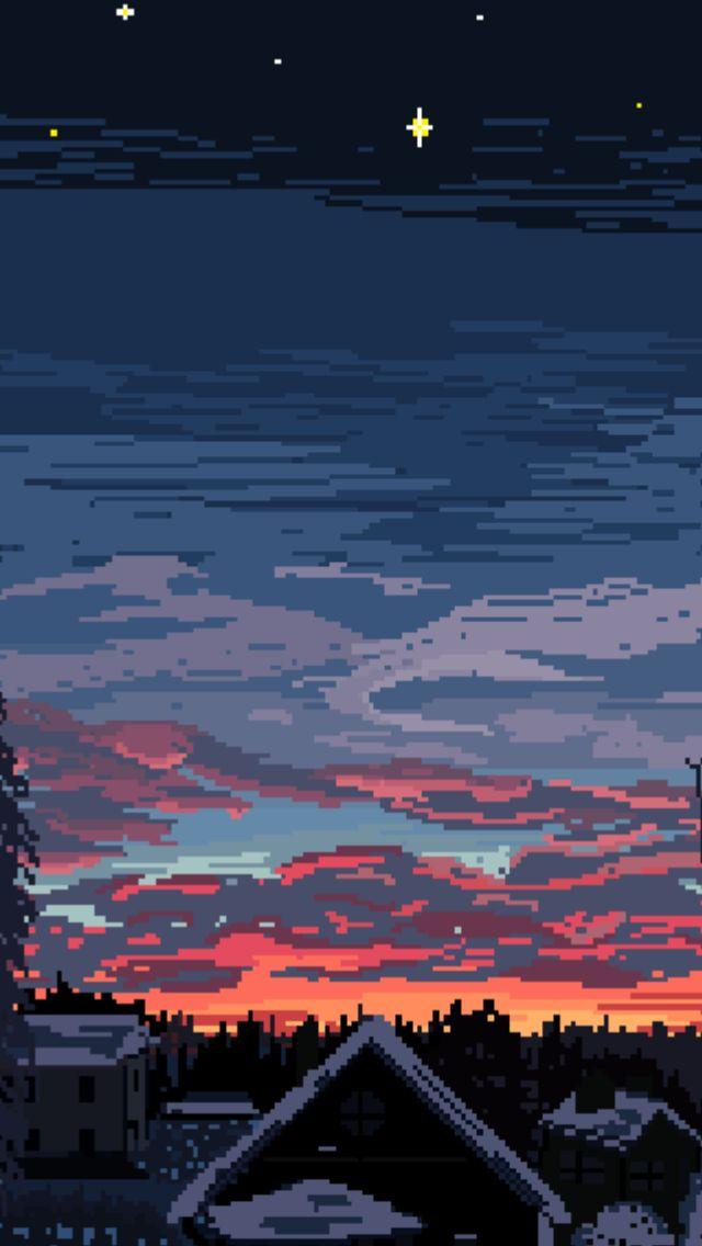 Dissolve Pixel art, Scenery, Aesthetic art