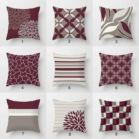 burgundy pillow covers purple wine deep