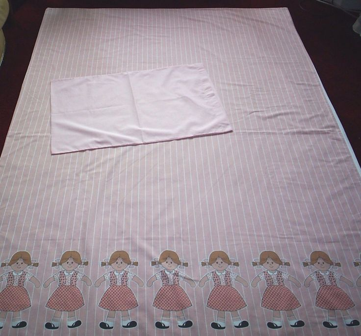 Vintage #1980's* toy rag doll single #duvet cover in pink & white #stripe pattern,  View more on the LINK: http://www.zeppy.io/product/gb/2/302181412454/