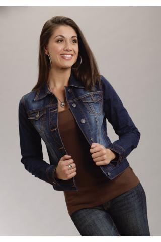 Ladies Denim Jacket Roper Ladies Outerwear Urban Western Wear