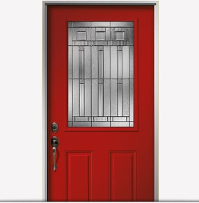 Encompass by pella 1 2 light fiberglass entry door with for Energy efficient entry doors