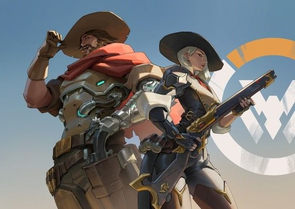 McCree and Ashe, don't ship em but like the art of both of
