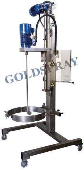 Agitador Eléctrico Automático Móvil 2HP 200 Litros- GoldSpray
