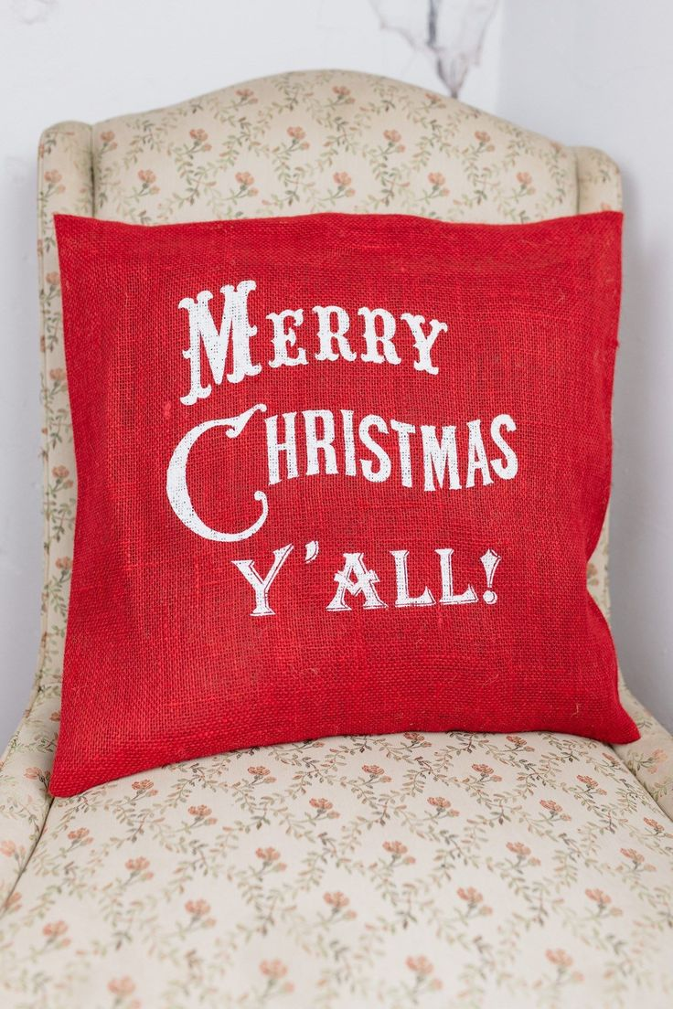 Buy a merry christmas yall burlap pillow at Bourbon & Boots. Shop all Pillows & Throws online.