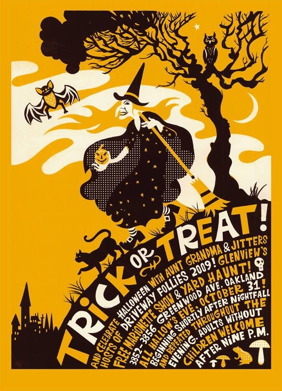 Another awesome Halloween poster design by Michael Wertz.