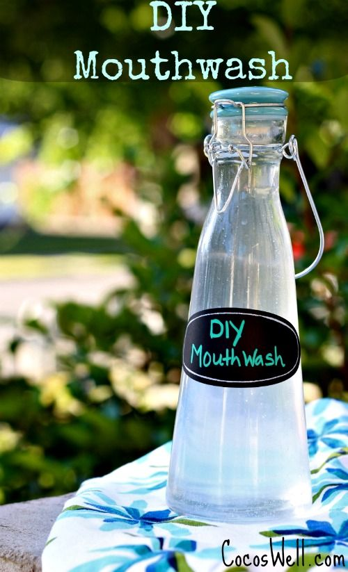 Super simple DIY Mouthwash Recipe-helps whiten teeth, prevent cavities and freshens breath!  www.cocoswell.com