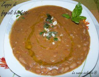 la cuoca eclettica: Zuppa di fagioli borlotti