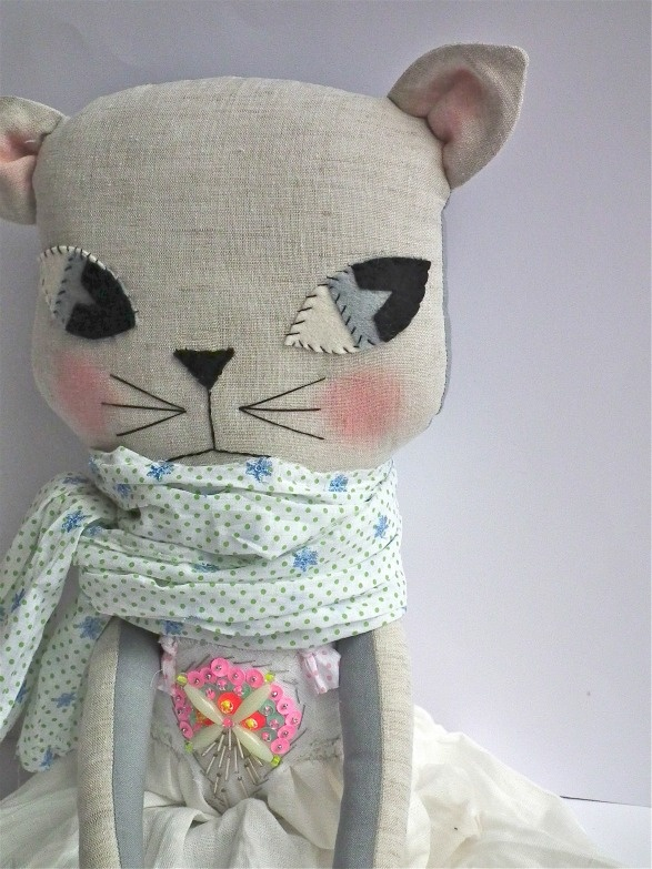 cat with scarf