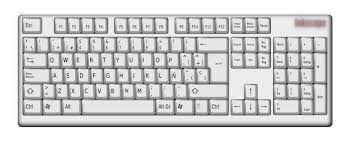 teclado es un periférico de entrada o dispositivo, en parte inspirado como el teclado de la maquina de escribir que se utiliza una disposición de botones o teclas para que actúen como palancas de mecánicas que envían información a la computadora