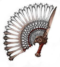A little inspiration for Shadow Guard weaponry. I can see it being employed by the Witchywolf wives