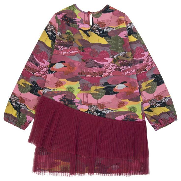 John Galliano Baby Girls Multicoloured Camo Dress