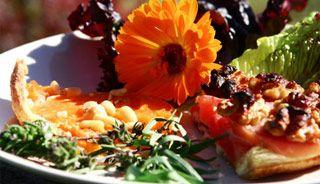 Tartes aux betteraves et aux tomates