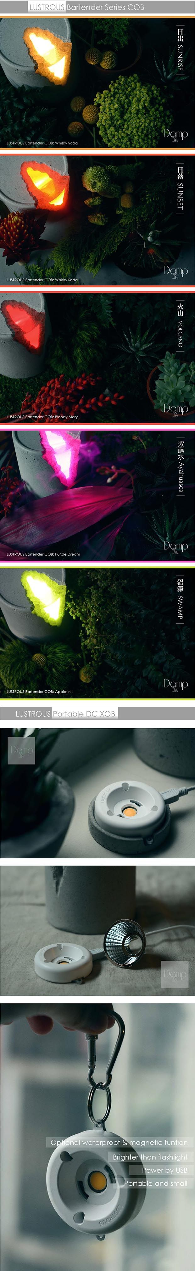 LUSTROUS works with local lamp designer brand DAMP.