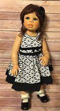 """Моника левениг малыша винил 28"""" кукла темно-каштановые волосы голубые глаза 297/350 2004"""